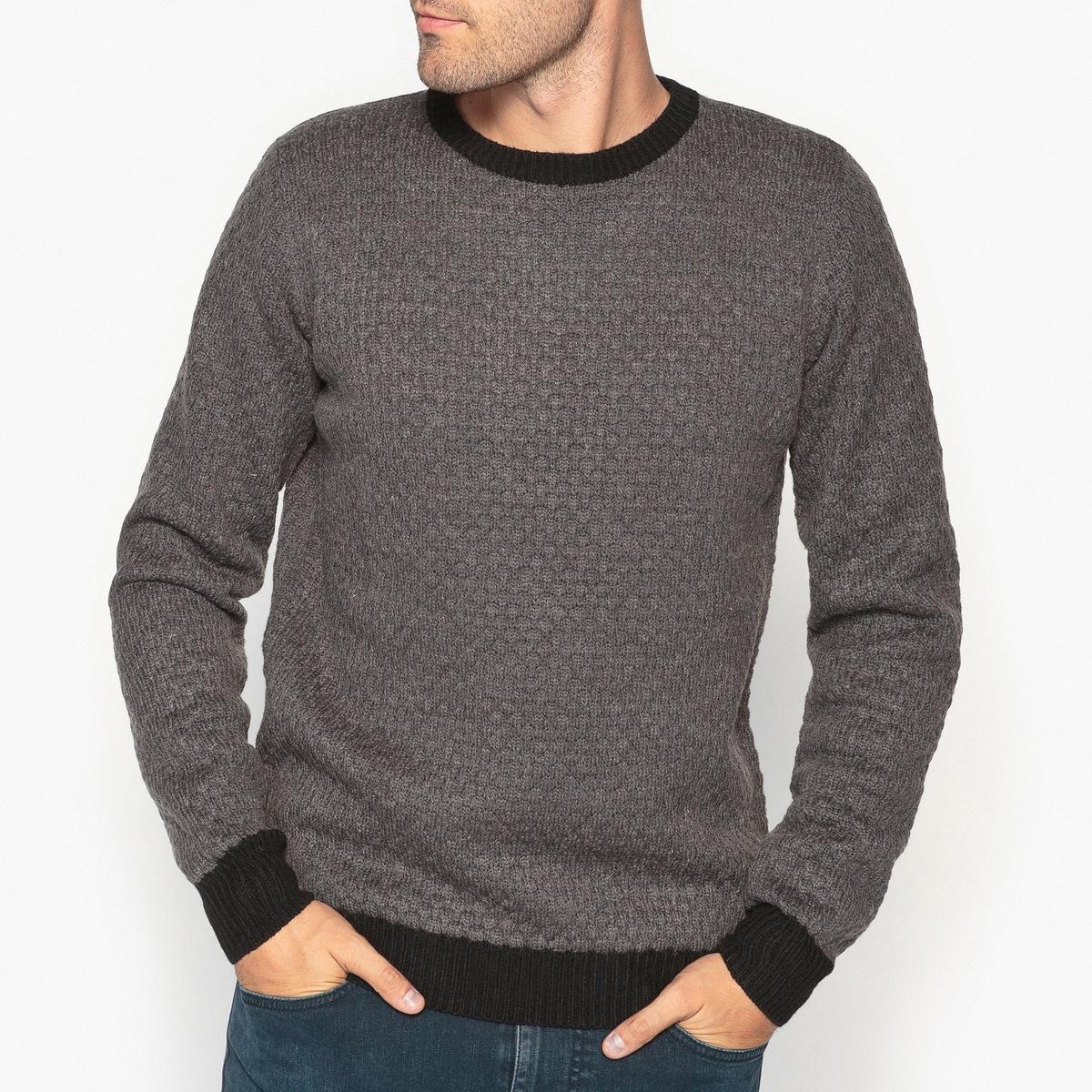 Пуловер с круглым вырезом из оригинального трикотажа от La Redoute Collections
