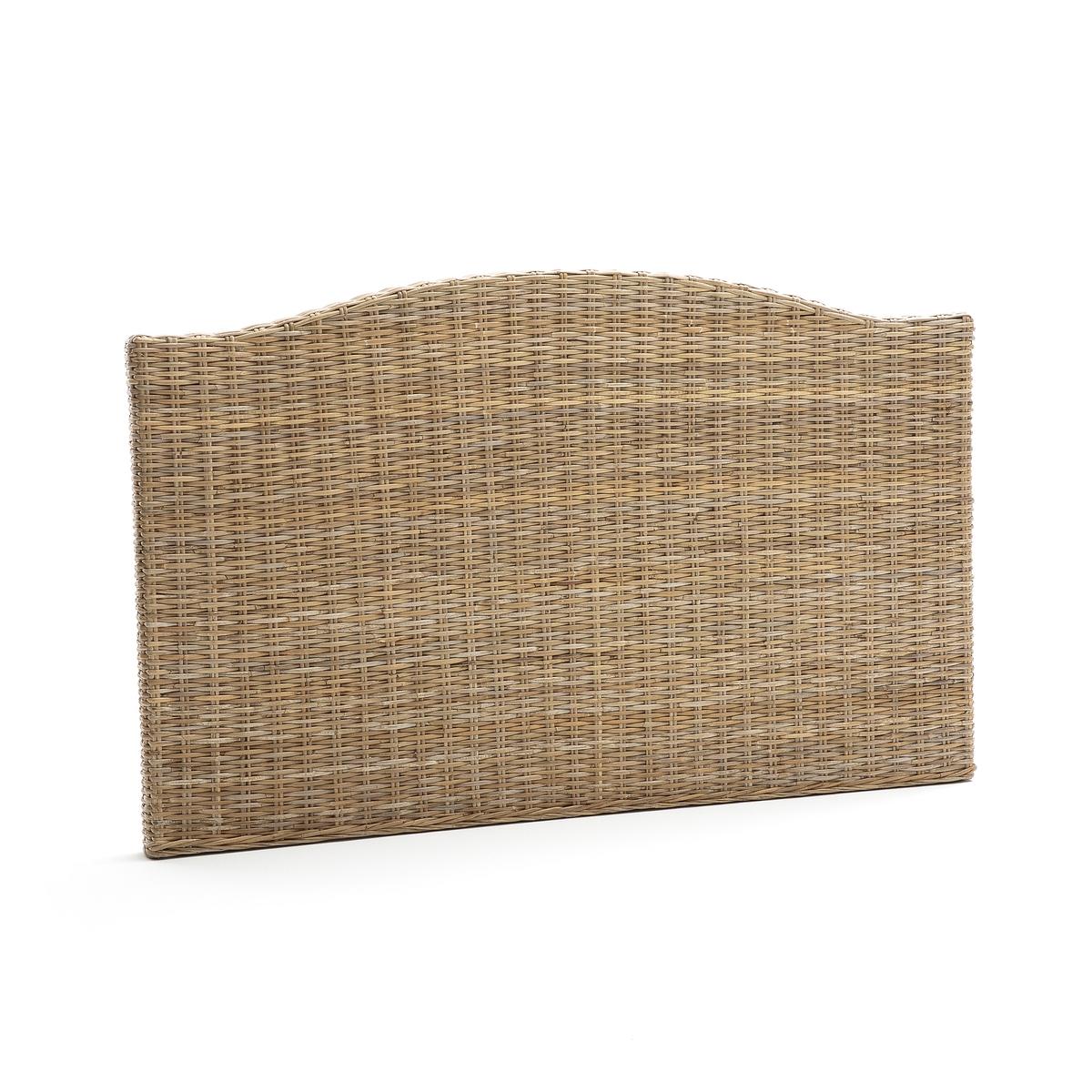 Изголовье LaRedoute 2-спальной кровати из плетеного тростника Malu 160 см бежевый кровати 160 см