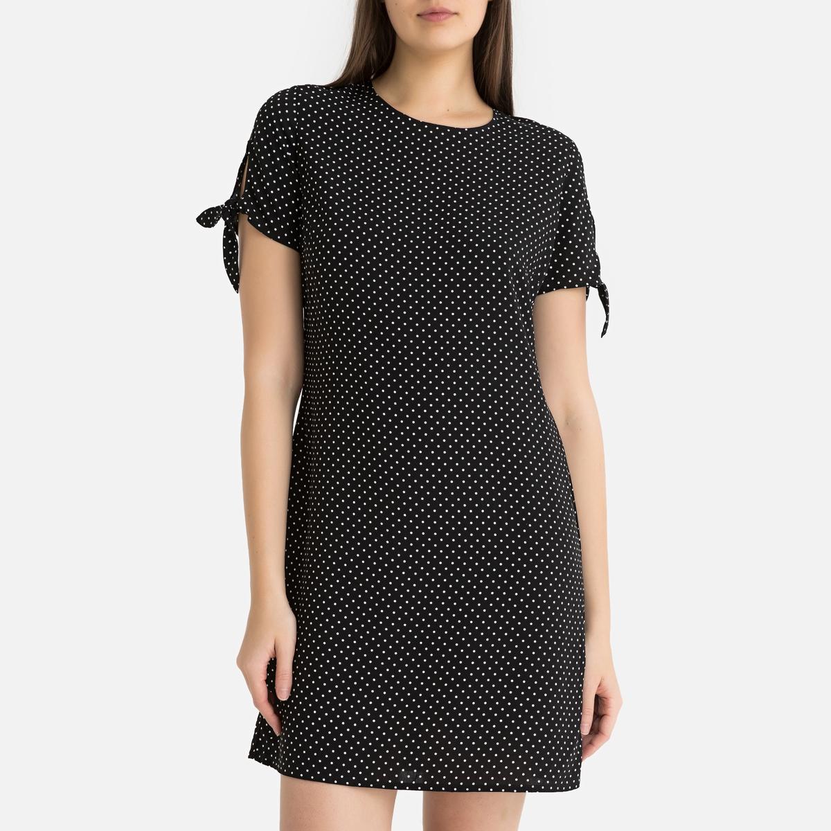 Платье La Redoute С короткими рукавами ANNOUCK POIS M черный