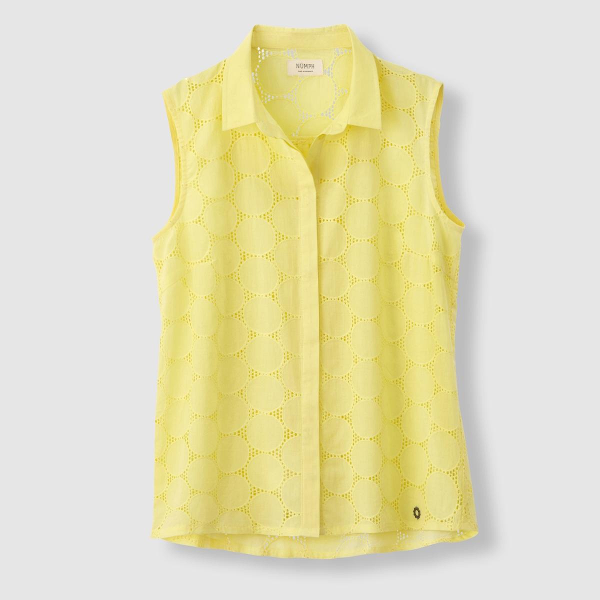 Блузка без рукавов, 100% хлопка, NUMPH, Kazou shirtСостав и описаниеМатериал: 100% хлопка.Марка: NUMPH.<br><br>Цвет: желтый