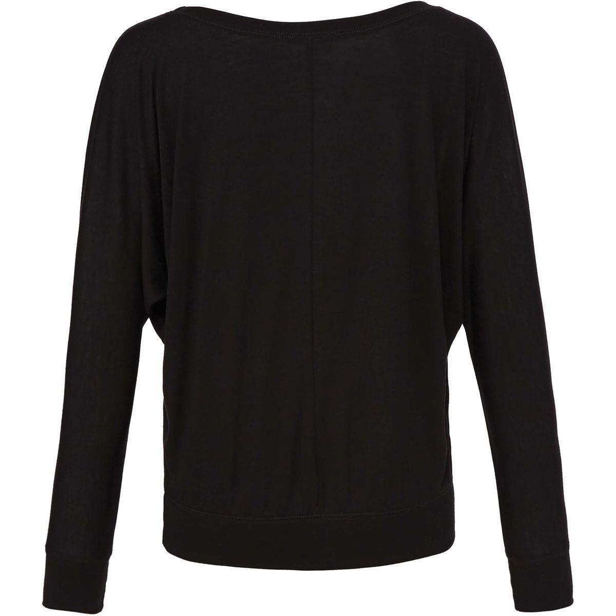 T-shirt flowy manches longues encolure large
