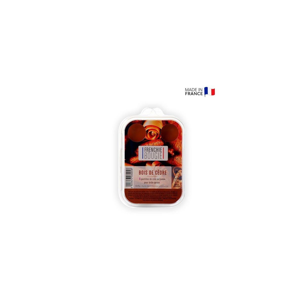Boîte de 6 pastilles de cire parfumée 10h bois de cèdre