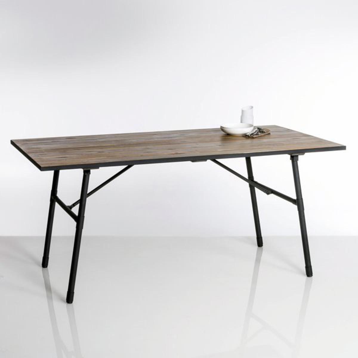 Садовый стол складной из дерева и металла Sohan