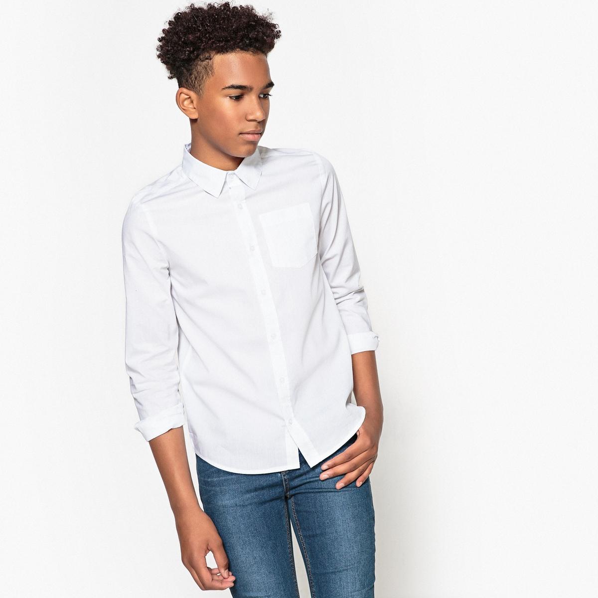 Рубашка белая 10-16 лет от La Redoute Collections