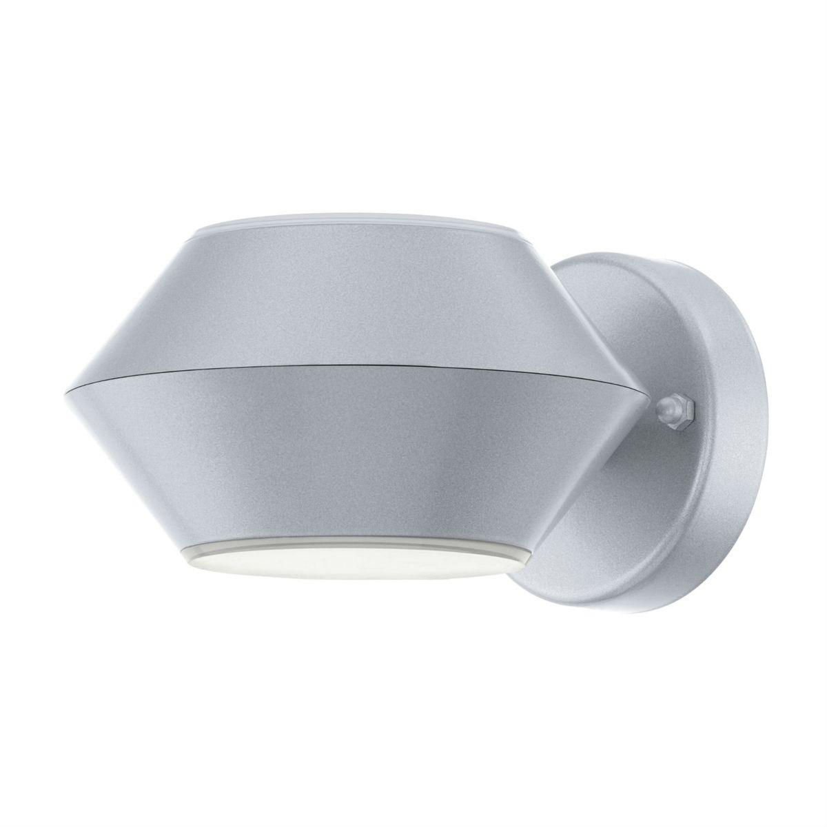 NOCELLA - Applique d'extérieur LED 2 Lumières Argent L17,5cm - Luminaire d'extérieur Eglo designé par
