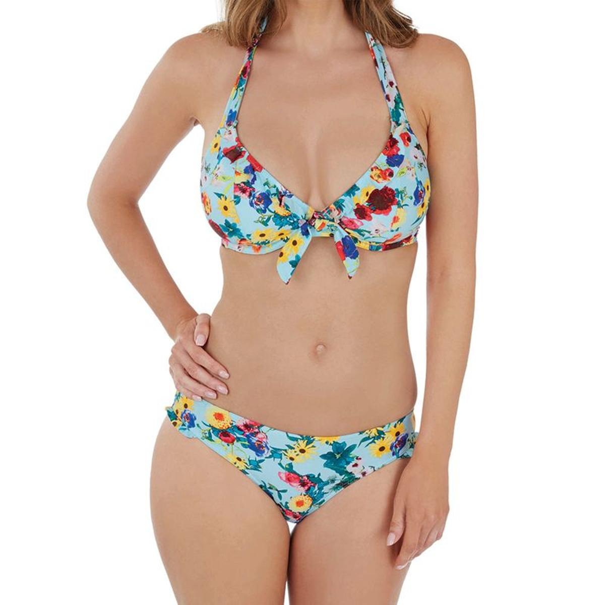 Haut de maillot de bain tour de cou à armatures Audelle FLOWER POWER flower print