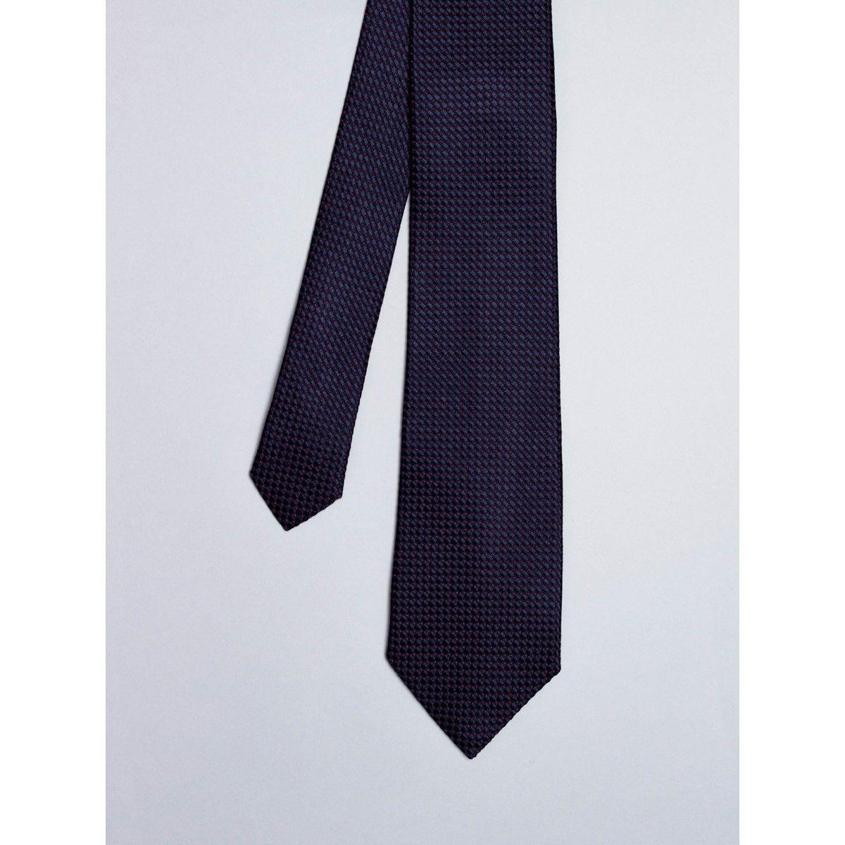 Cravate noire avec micro points
