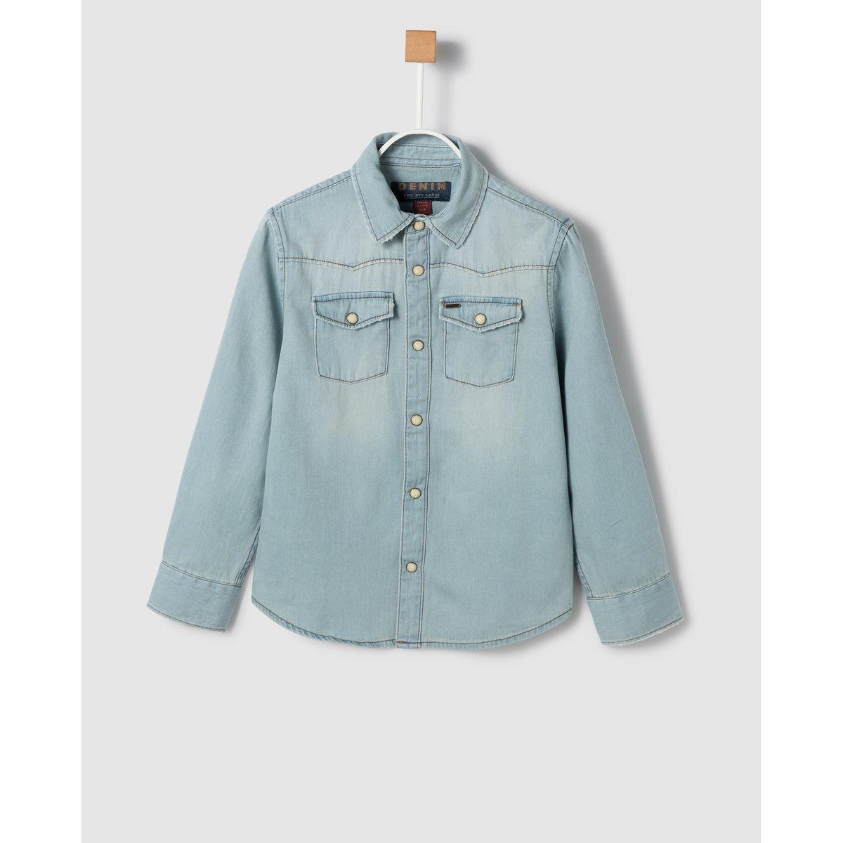 Chemise en jean e avec boutonspression