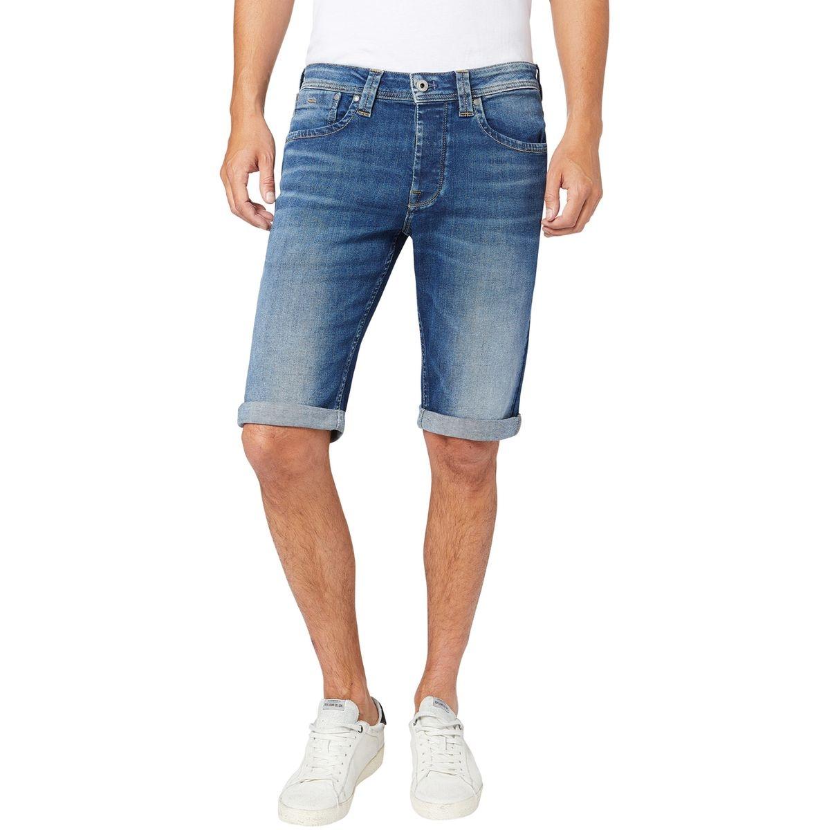 Short en jean droit Cash