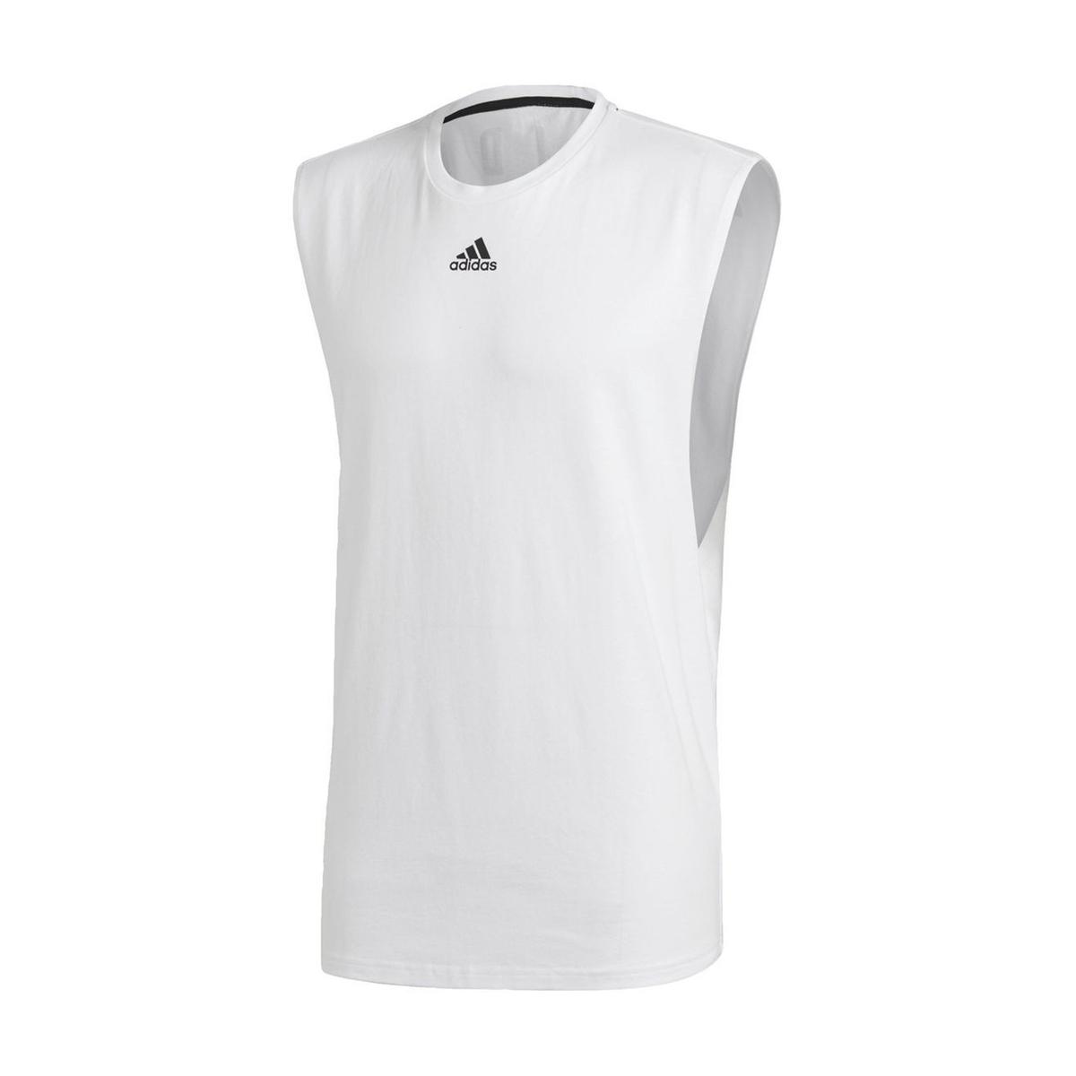 Camiseta sin mangas con cuello redondo y estampado detrás