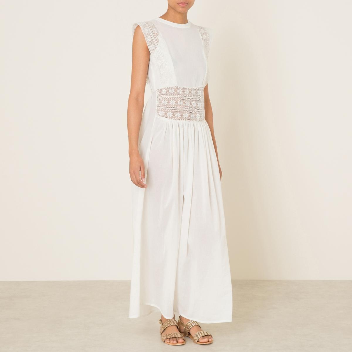 Платье AGATAСостав и описание    Материал : 100% хлопок   Длина : ок.144 см. для размера 36   Марка :<br><br>Цвет: кремовый