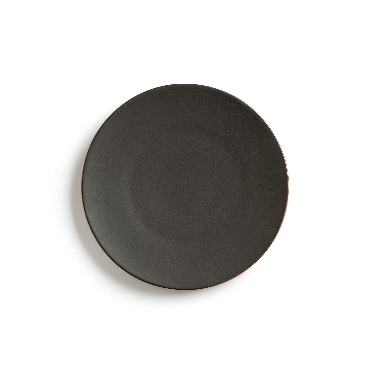Фото - Комплект из 4 десертных тарелок LaRedoute Из матовой керамики Organic единый размер черный корзинка laredoute с пластиковой ручкой единый размер черный