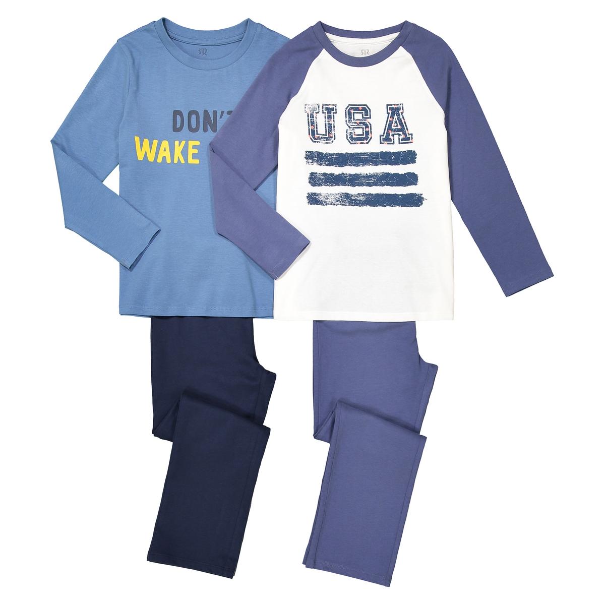 пижама с рисунком из хлопка 3-12 лет (комплект из 2 изделий)