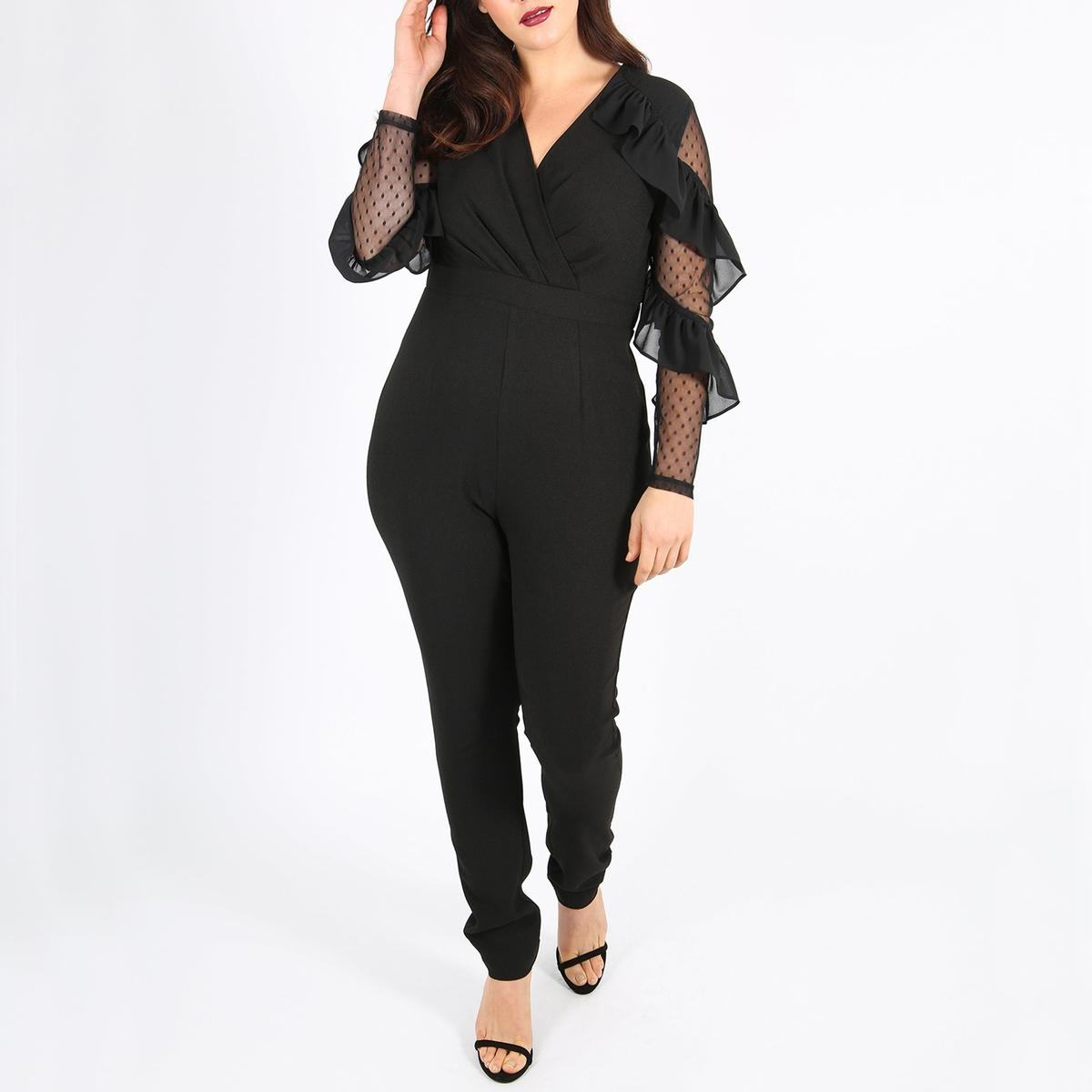 Комбинезон с брюками с длинными рукавами и воланами lussole подвесной светильник lussole lsf 2386 01