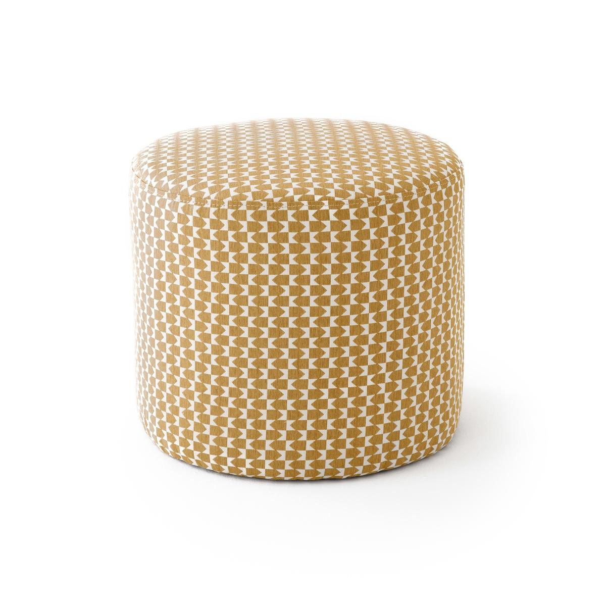 Пуф LaRedoute Из ткани SMON единый размер желтый