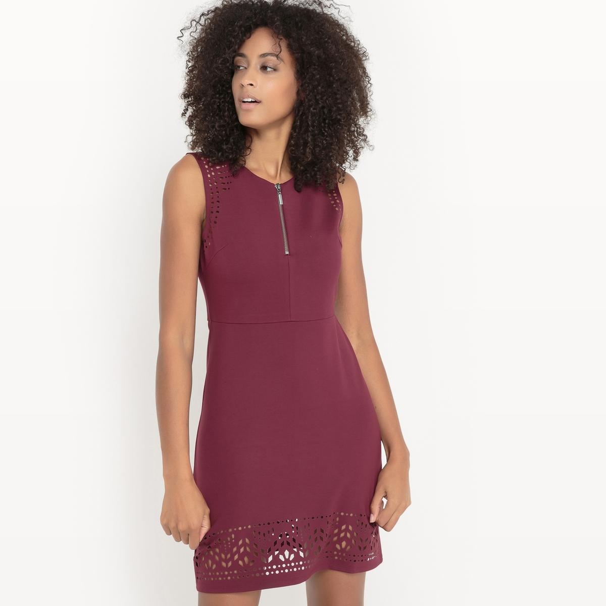 Платье, низ с перфорацией низ