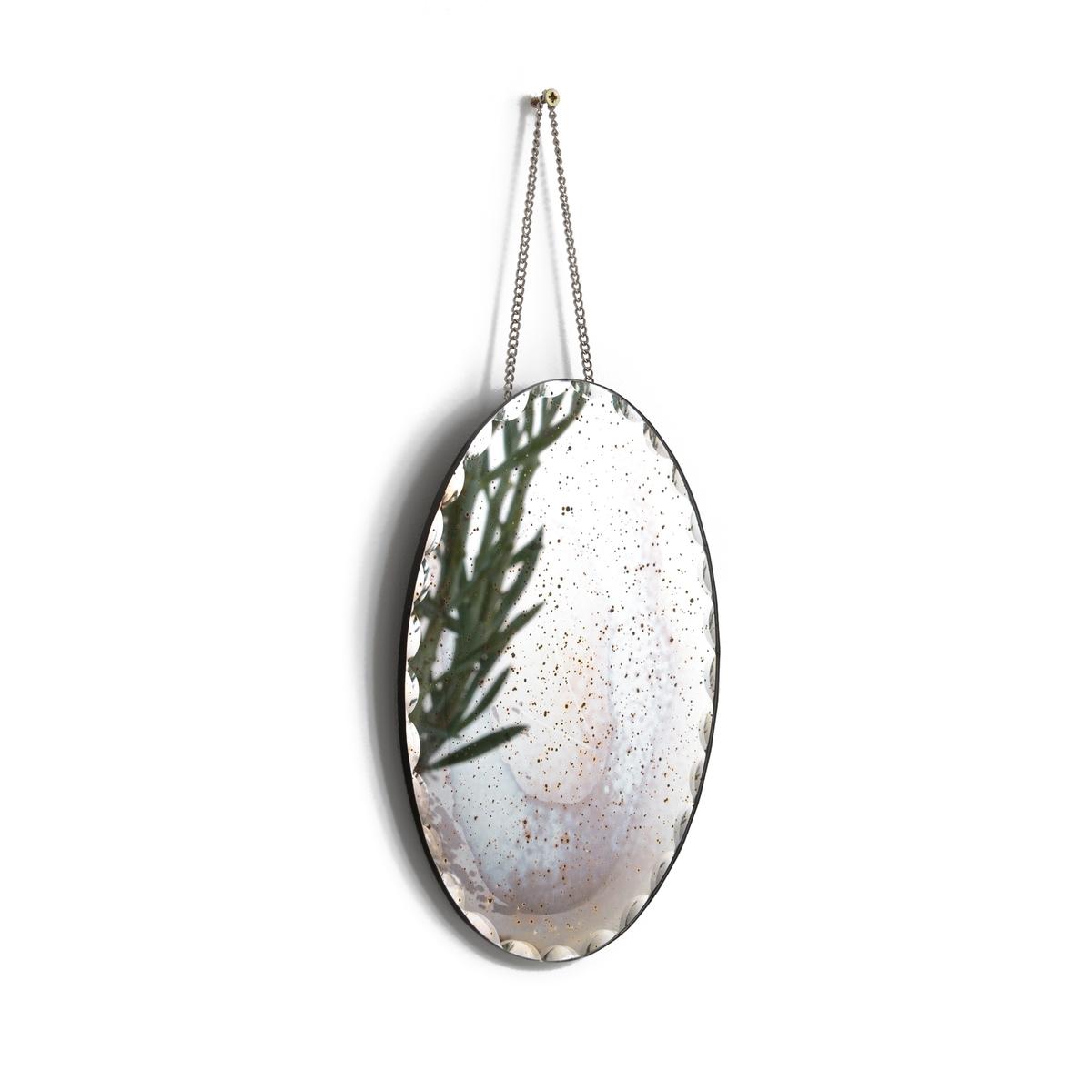 Зеркало настенное с гранями с эффектом старения TIKKA