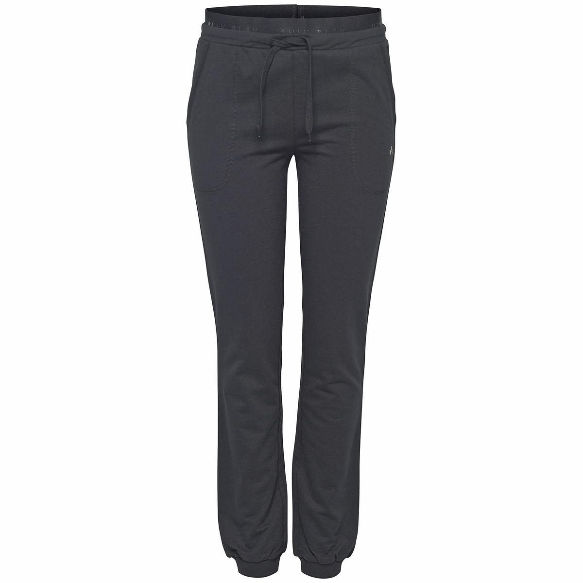 Брюки спортивные LEONA SLIM SWEAT PANTSСпортивные брюки, модель LEONA SLIM SWEAT PANTS от ONLY PLAY. Пояс с завязками. Низ на резинке.      Состав и описание:               Материал         75% хлопка, 25% вискозы     Марка         ONLY PLAY                    Уход          Машинная стирка при 30 °C     Отбеливание запрещено     Гладить при умеренной температуре  Барабанная сушка в умеренном режиме<br><br>Цвет: черный<br>Размер: S