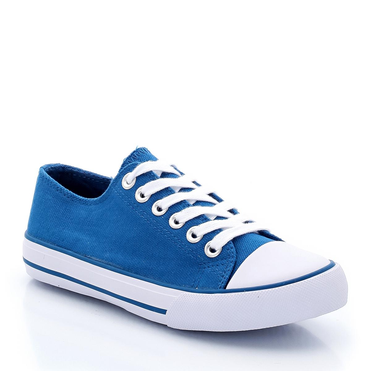 Кеды тканевые, размеры 26-40Описание:Детали •  Спортивный стиль •  Плоский каблук •  Застежка : шнуровка •  Гладкая отделкаСостав и уход •  Верх/Голенище : 100% хлопок •  Подкладка : 100% хлопок •  Стелька : 100% хлопок •  Подошва : 100% каучук<br><br>Цвет: синий морской,синий<br>Размер: 34.29