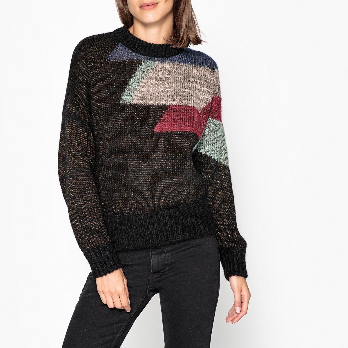 Пуловер с круглым вырезом из тонкого трикотажа AURORE baffin crystal aurore boreale page 2