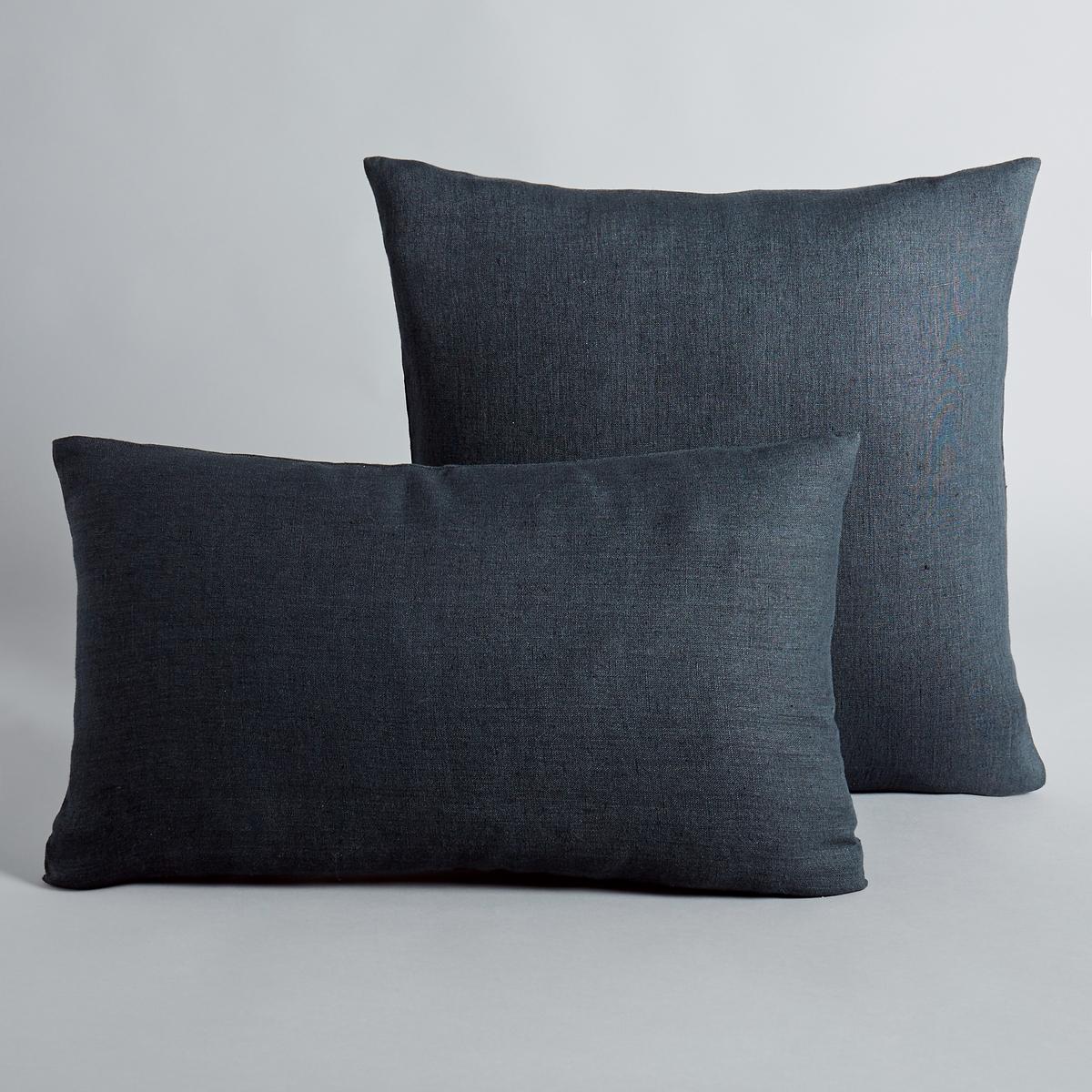 Льняной чехол для подушки, GeorgetteМатериал : - 100% льнаРазмер : - 50 x 30см : прямоугольная форма- 45 x 45 см : квадратная наволочка<br><br>Цвет: антрацит,бирюзовый,желтый карри,оранжевый,розовый,светло-серый,серо-зеленый,синий морской,экрю