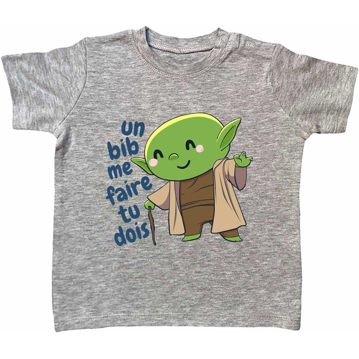 T-shirt Bébé Un Bib Me Faire Tu Dois