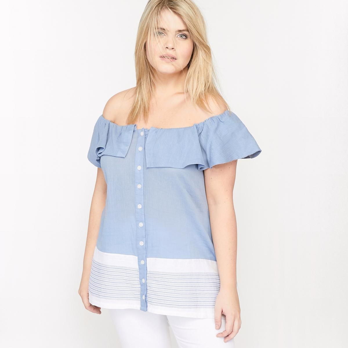 Блузка с короткими рукавами и воланами