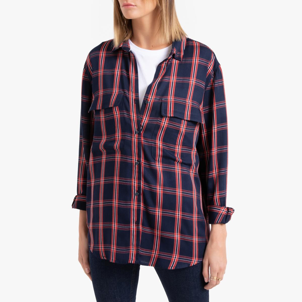 Рубашка La Redoute La Redoute S синий рубашка la redoute джинсовая узкая jjesheridan s синий