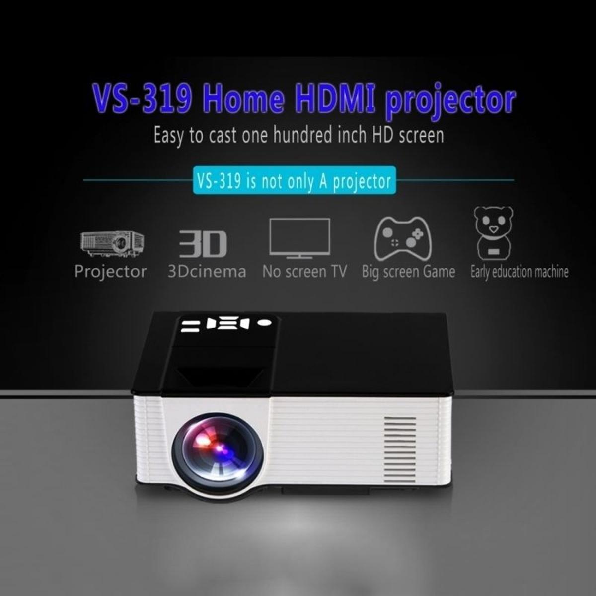 bon plan Vidéoprojecteur Android Projecteur Portable Multimédia LED 1Go + 8Go 16:9 Blanc