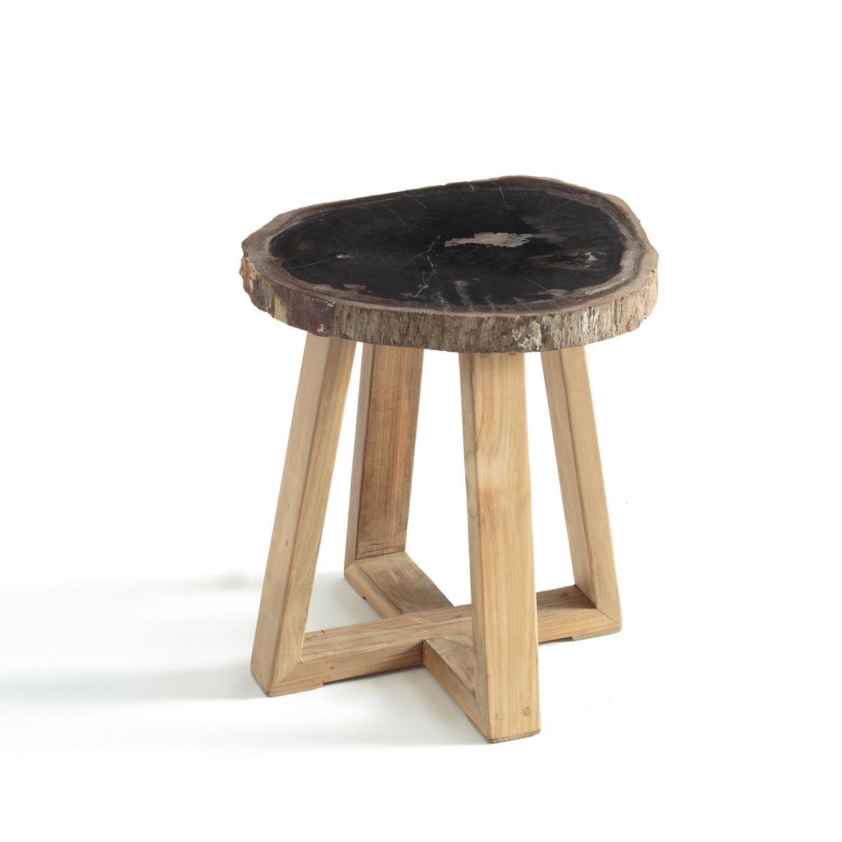 Столик журнальный из окаменелого дерева Apiti