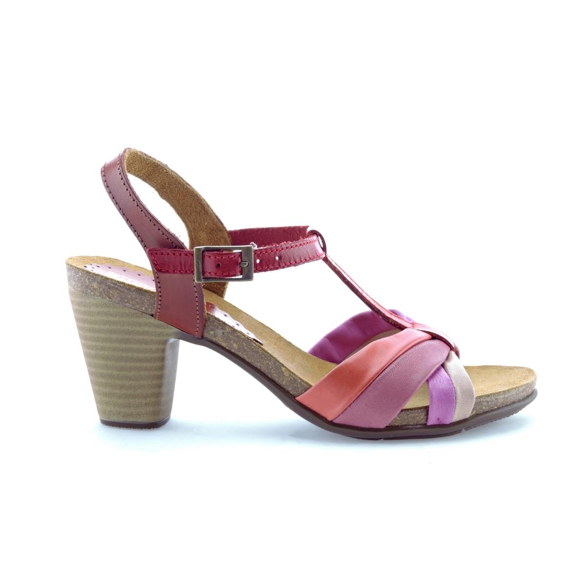Босоножки кожаные LizВерх : кожа   Стелька : кожа   Подошва : эластомер   Высота каблука : 8 см   Форма каблука : квадратный каблук   Мысок : открытый мысок   Застежка : пряжка<br><br>Цвет: разноцветный<br>Размер: 36