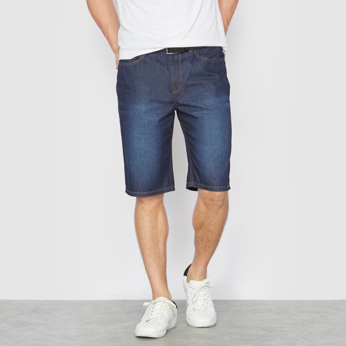 Бермуды, 5 карманов, из легкого денима, 100% хлопкаБермуды из джинсы. 5 карманов . Полностью эластичный пояс для комфорта. Из очень легкого денима, незаменимая вещь в летний сезон, 100% хлопка. Длина по внутр.шву 29 см.Обратите внимание, что бренд Taillissime создан для высоких, крупных мужчин с тенденцией к полноте. Чтобы узнать подходящий вам размер, сверьтесь с таблицей больших размеров на сайте.<br><br>Цвет: темно-синий потертый<br>Размер: 50 (FR) - 56 (RUS).54.68