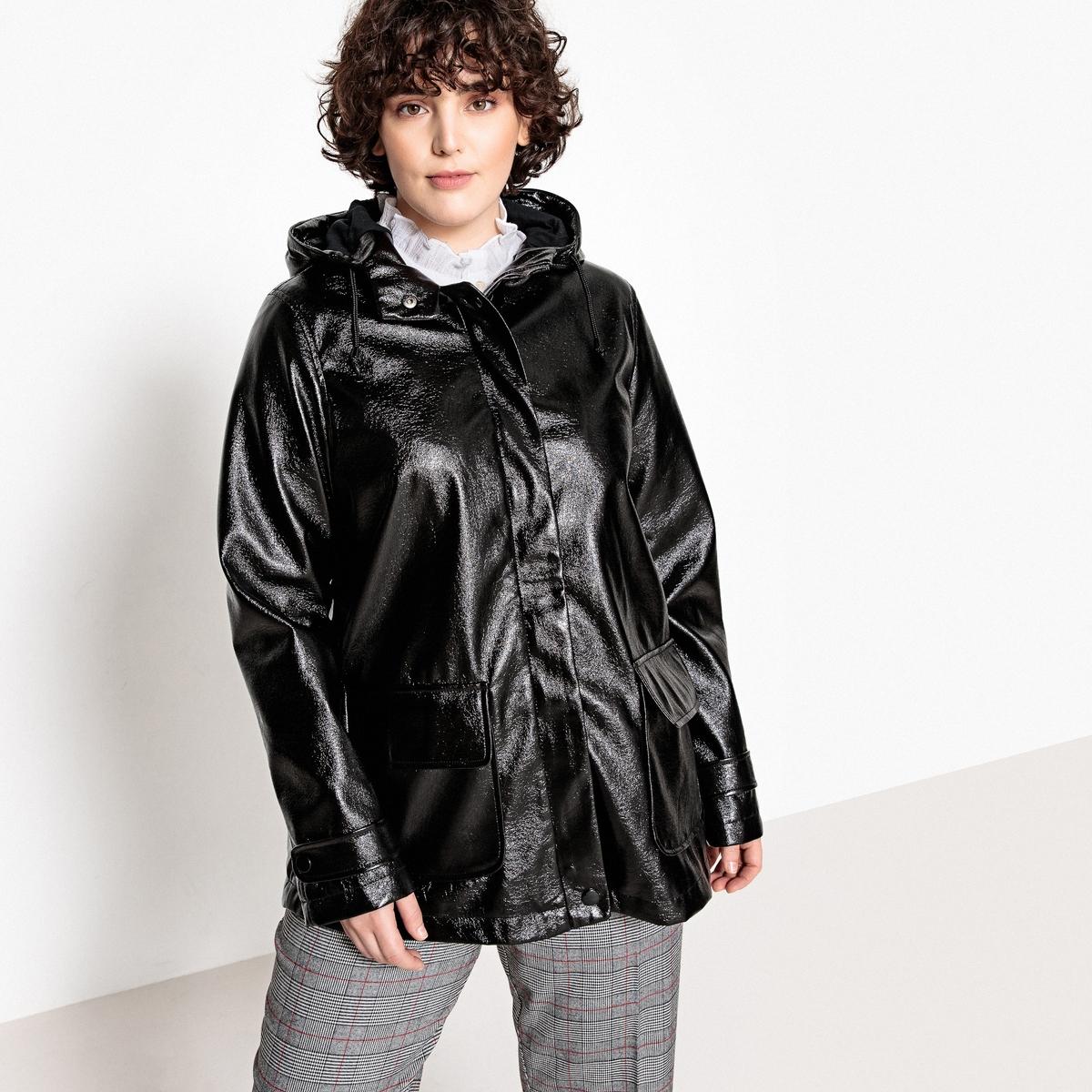Куртка непромокаемая на молнии с капюшоном, модель демисезонная куртка укороченная большого размера демисезонная модель