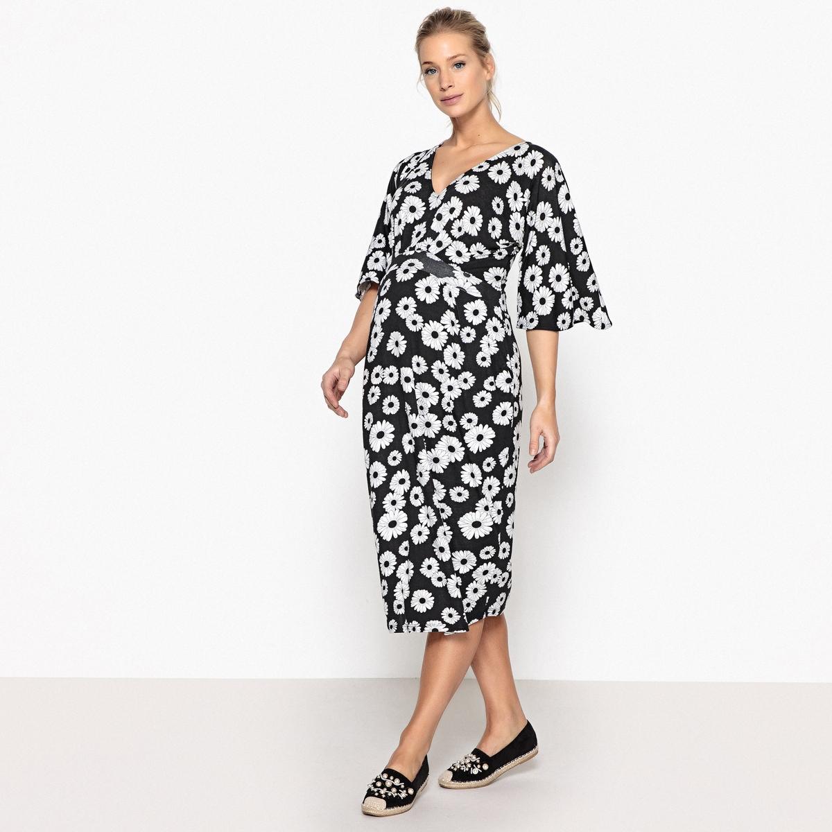Платье La Redoute Для периода беременности с цветочным рисунком S другие платье la redoute из трикотажа для периода беременности s другие