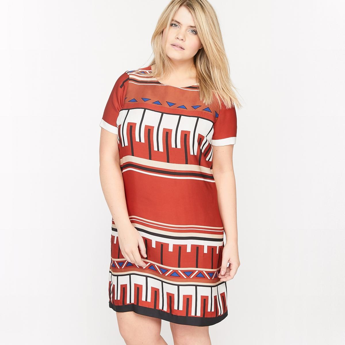 Платье-футляр с короткими рукавами и рисунком платье футляр с цветочным рисунком