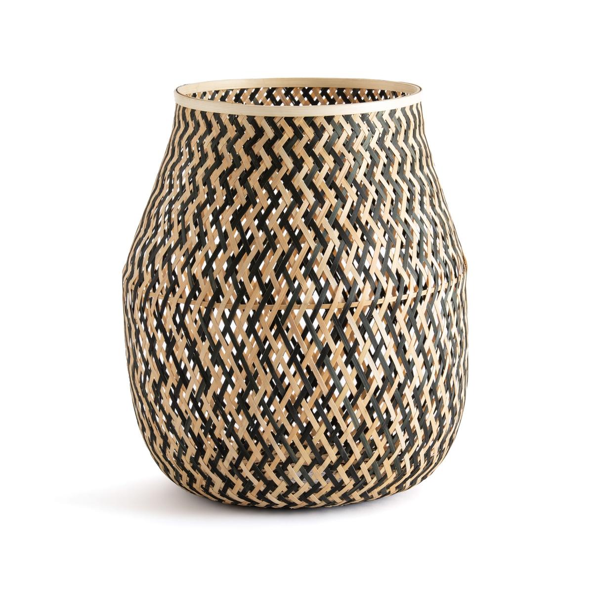 Корзина La Redoute Из плетеного бамбука Azzu единый размер бежевый корзина la redoute из абаки в см timeus единый размер бежевый