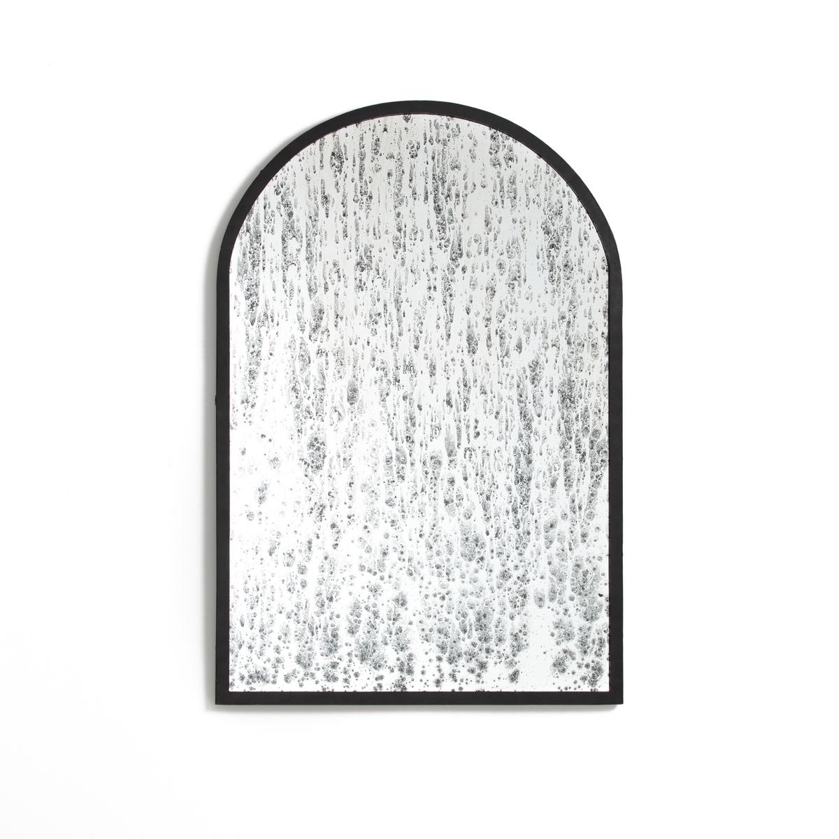 Зеркало, покрытое пятнами, металл LENAIGСтильное зеркало из современных материалов и с модной отделкой.Характеристики зеркала :Каркас зеркала из металла с черным эпоксидным покрытием, эффект темных пятен.2 пластины для крепления к стене, шурупы и дюбели в комплект не входятРазмеры зеркала : Разм: 110 x 75 смRetrouvez toute la collection d?co sur laredoute.ru<br><br>Цвет: черный<br>Размер: единый размер