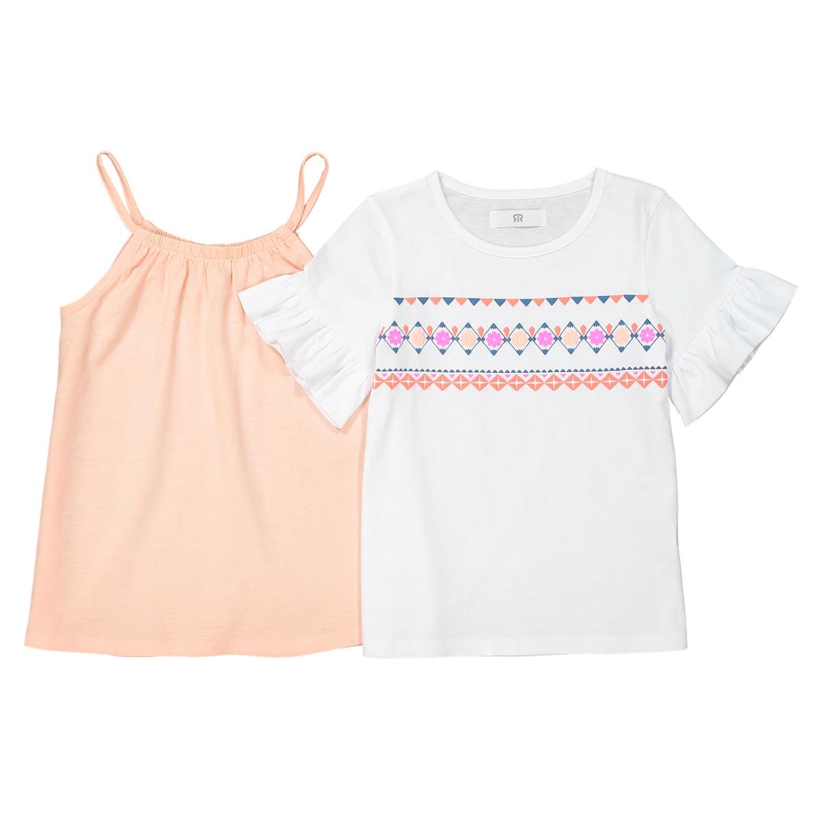 Комплект из футболки и топа 3-12 лет