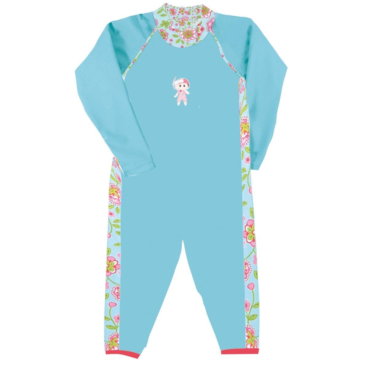 Mini Princesse   Combinaison maillot anti UV fille manches longues