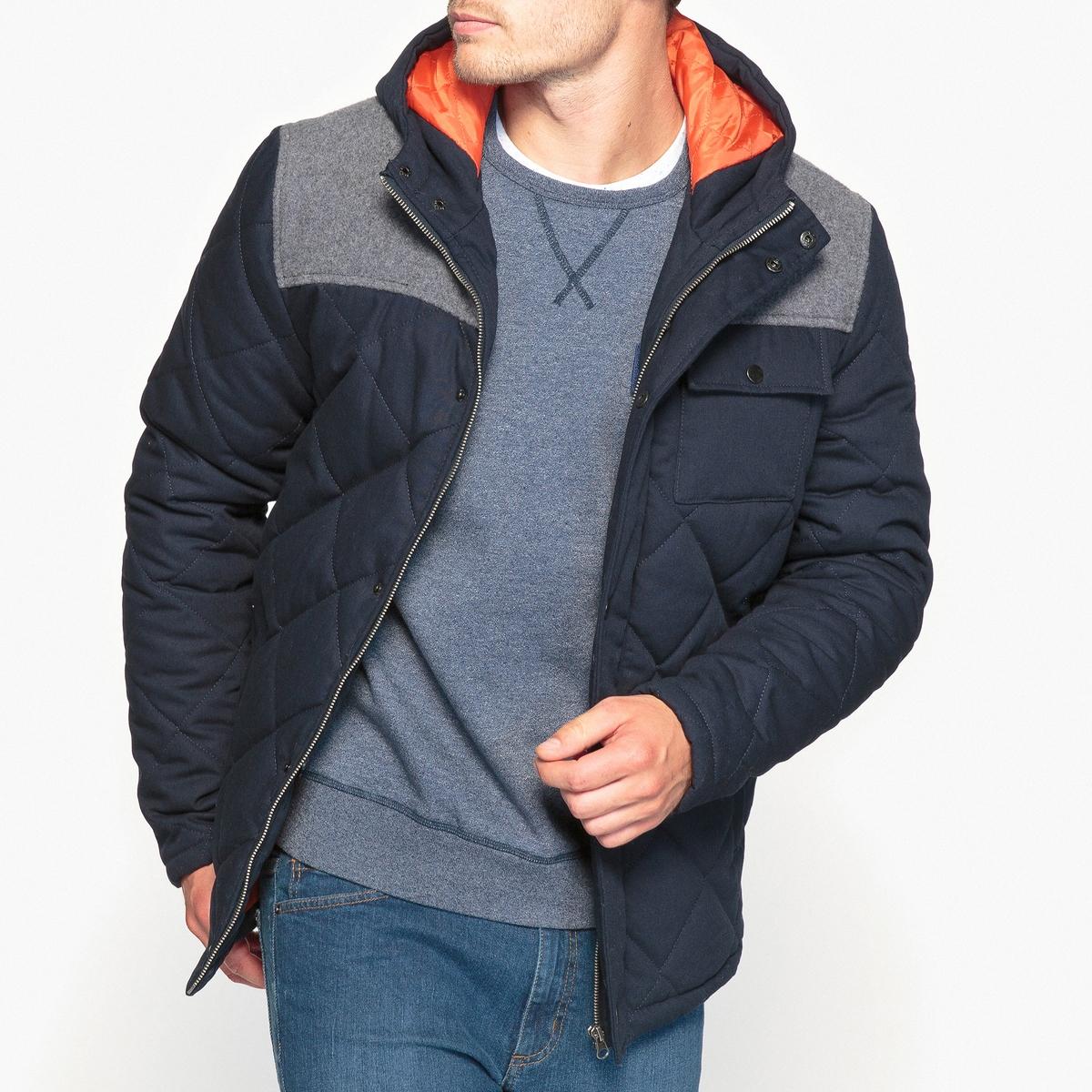 Куртка двухцветная с воротником-стойкой и водоотталкивающей пропиткой