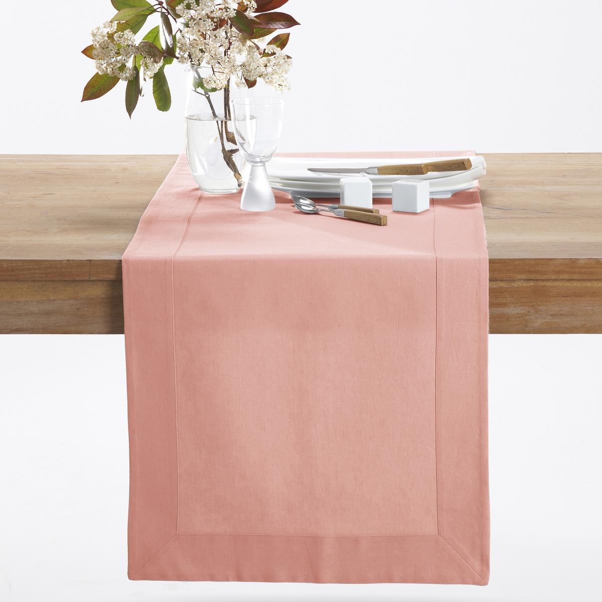 Caminho de mesa em meio-linho/algodão BORDER