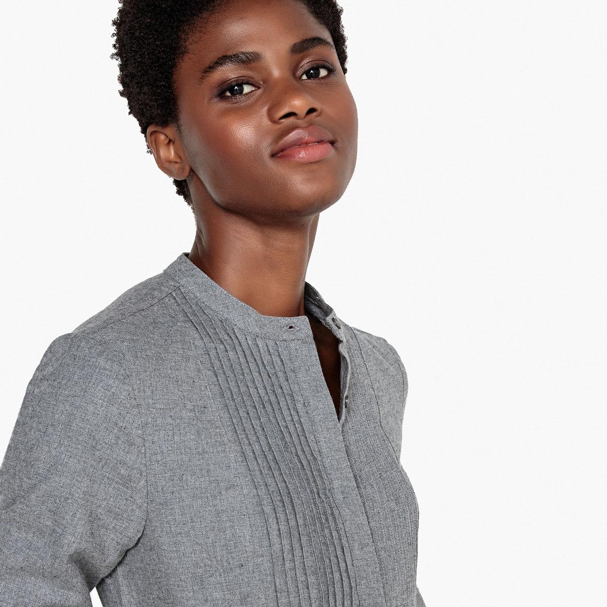 Рубашка с пиджачным воротником и длинными рукавами, 100% хлопок рубашка узкая 100% хлопок