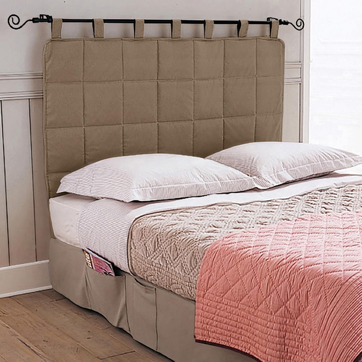 Панель для изголовьяСтеганая панель для изголовья кровати элегантно дополнит интерьер Вашей спальни. Ткань из 80% хлопка, 20% полиэстера. 5 стильных цветов на выбор. Высота 90 см (из них 10 см - шлевки). Стирка при 40°.<br><br>Цвет: бежевый,серо-коричневый каштан<br>Размер: 140 x 100 см.160 x 100 см