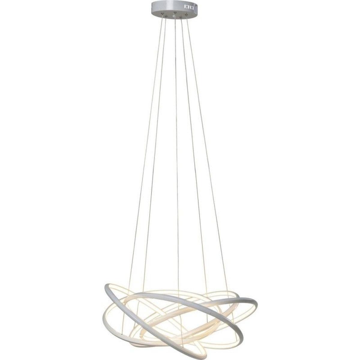 Suspension Saturn LED blanc 120cm Kare Design