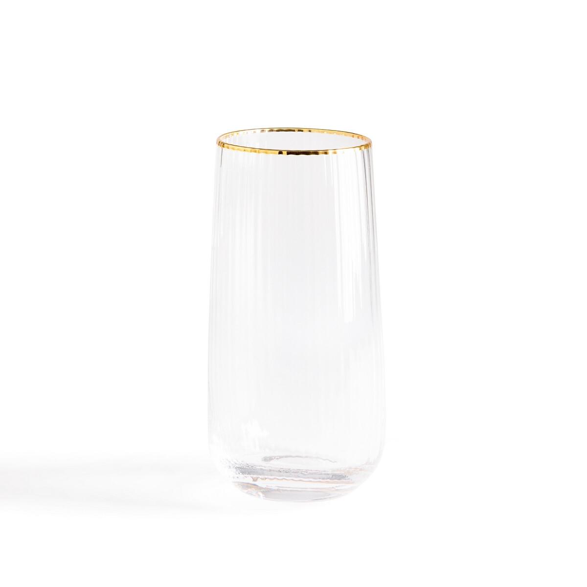 Набор LaRedoute Из 4 граненных стаканов для воды Lurik единый размер другие набор laredoute из 6 стаканов troquet единый размер другие
