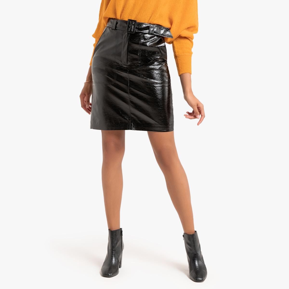 Юбка La Redoute Короткая прямая 40 (FR) - 46 (RUS) черный юбка la redoute короткая прямая из ткани с пропиткой 40 fr 46 rus черный