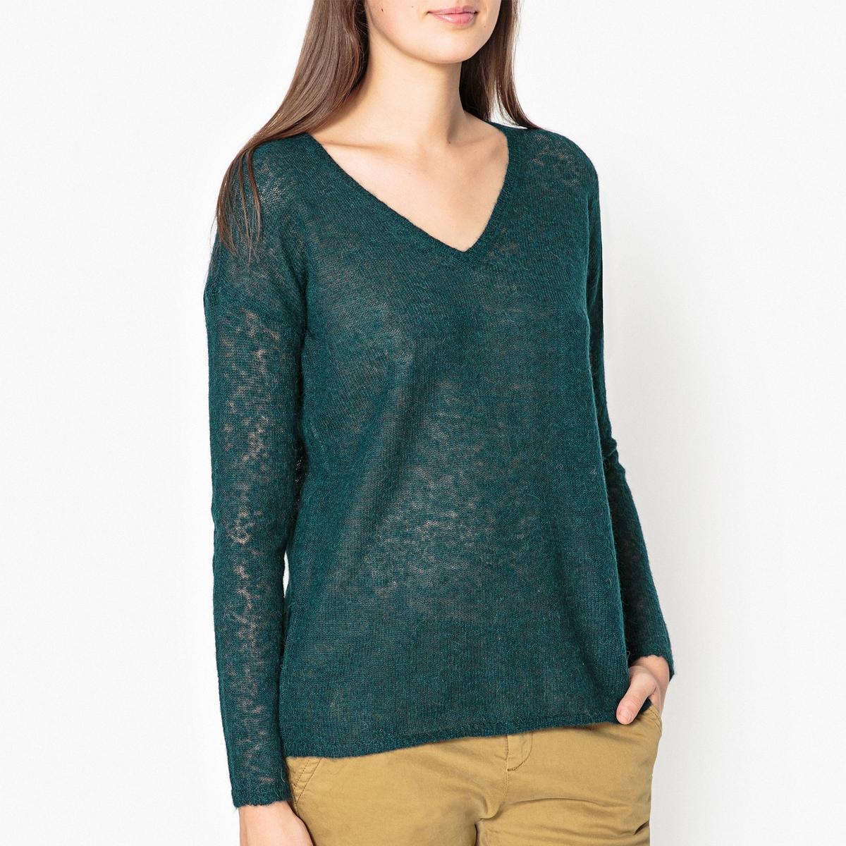 Пуловер из тонкого трикотажа с V-образным вырезом MANANAПуловер с длинными рукавами и V-образным вырезом HARRIS WILSON - модель MANANA.Детали •  Длинные рукава •   V-образный вырез •  Тонкий трикотаж Состав и уход •  55% альпаки, 45% полиамида •  Следуйте советам по уходу, указанным на этикетке<br><br>Цвет: зеленый,кирпичный<br>Размер: L.M