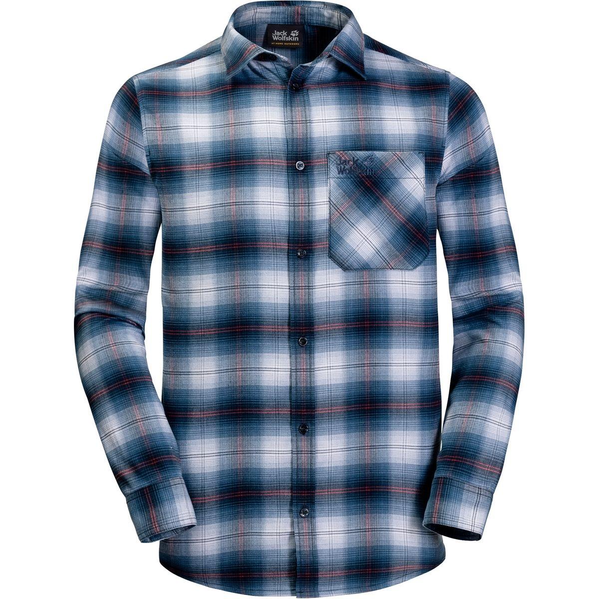 Light Valley - T-shirt manches longues Homme - bleu/blanc