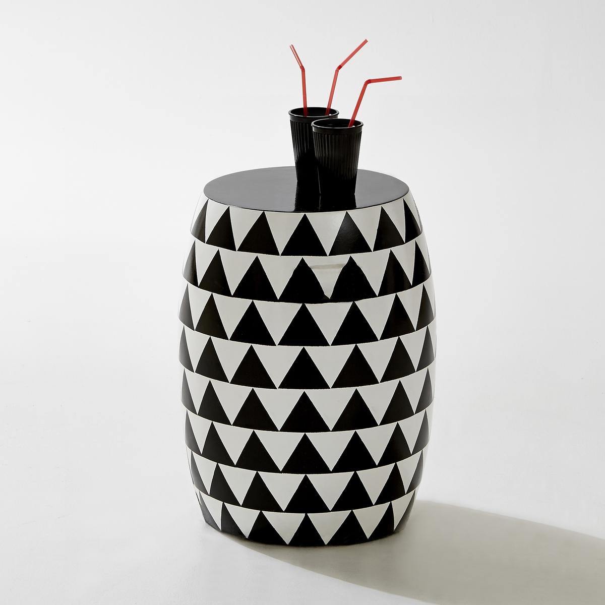 Табурет садовый цилиндрической формыМозаичный рисунок треугольники на цементном волокне для уникальности стиля!Характеристики садового табурета:Рисунок треугольники.Цементное волокно.Цилиндрическая форма.Для использования в помещении или на улице.Размеры садового табурета:Диаметр: 35 см.Высота 46 см.Размеры коробки:1 коробкаДлина 42 см.Ширина 42 см.Высота  57 см.Вес: 14 кг.Доставка:Данная модель табурета не требует сборки. Доставка осуществляется до квартиры по предварительной договоренности!Внимание! Внимание! Убедитесь в том, что посылку возможно доставить на дом, учитывая ее габариты (двери, лестницы, лифты)..<br><br>Цвет: оранжевый/ синий,черный/ белый