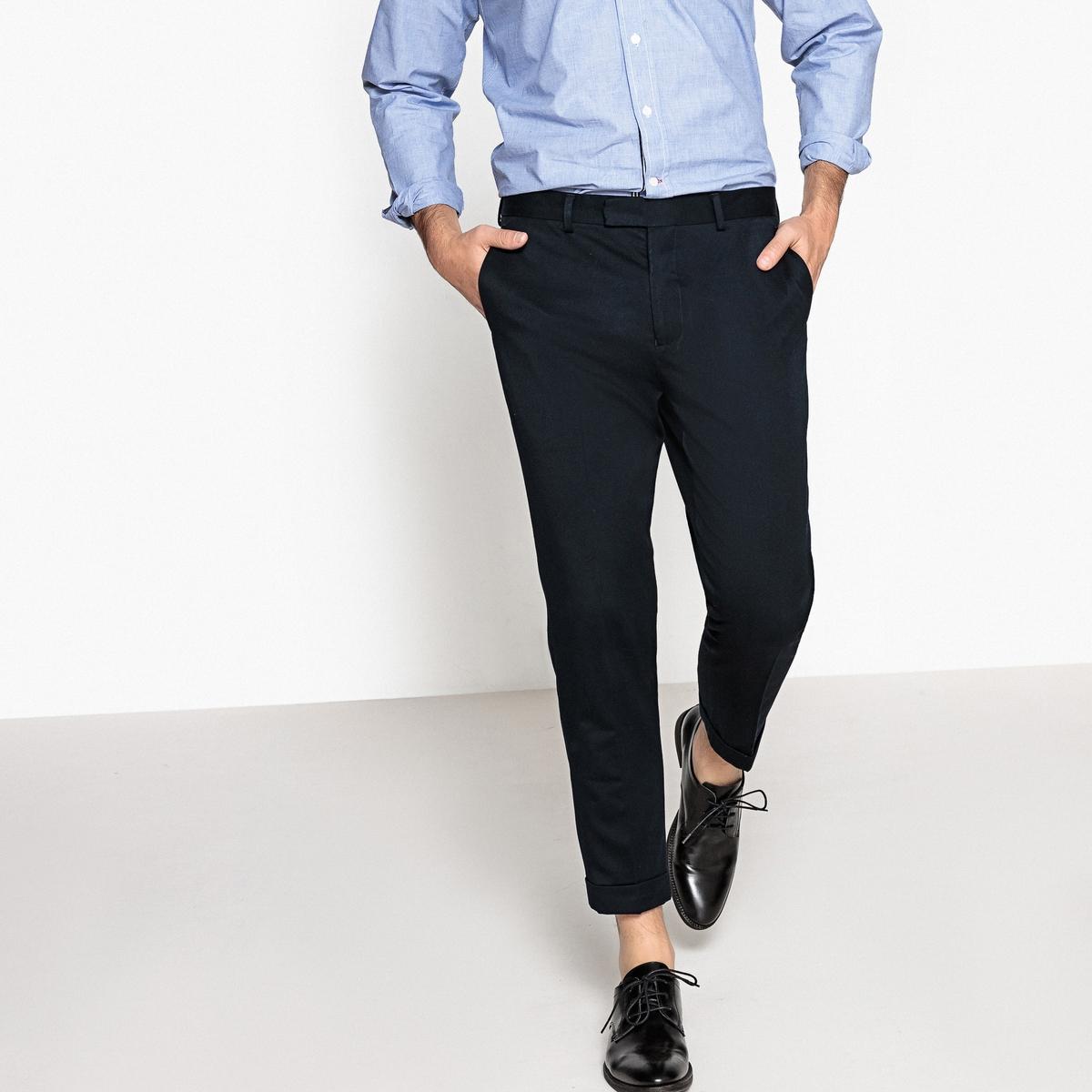 Брюки костюмные, 7/8Детали •  Костюмные брюки •  Стандартная высота поясаСостав и уход •  67% вискозы, 33% полиэстера  •  Температура стирки 30° на деликатном режиме   •  Сухая чистка и отбеливание запрещены    • Барабанная сушка на слабом режиме       •  Низкая температура глажки<br><br>Цвет: темно-синий<br>Размер: 38 (FR) - 44 (RUS).40 (FR) - 46 (RUS).48 (FR) - 54 (RUS).42 (FR) - 48 (RUS).50 (FR) - 56 (RUS).36 (FR) - 42 (RUS).46 (FR) - 52 (RUS)